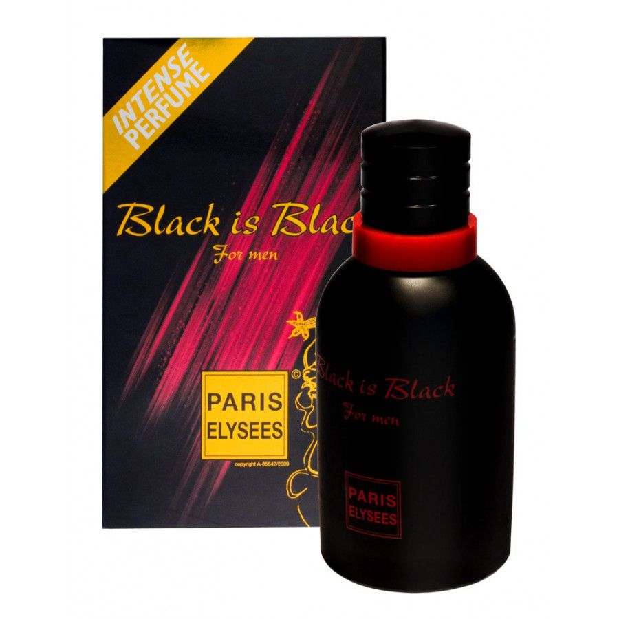 Paris Elysees Eau de Toilette Black is Black For Men 100 mL