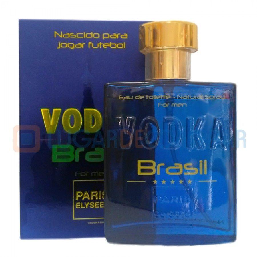 Paris Elysees Eau de Toilette Vodka Brasil For Men Azul 100 mL