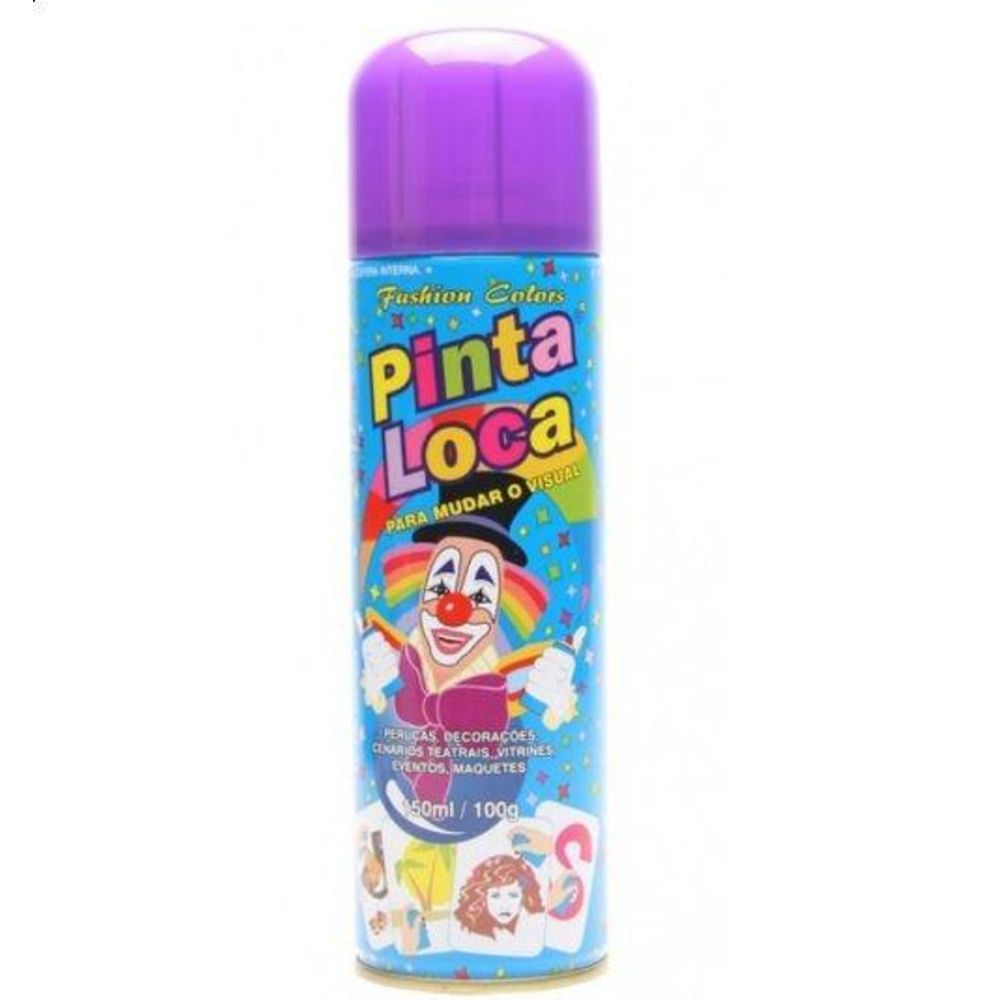 Pinta Loca Tinta Spray Roxo 150mL