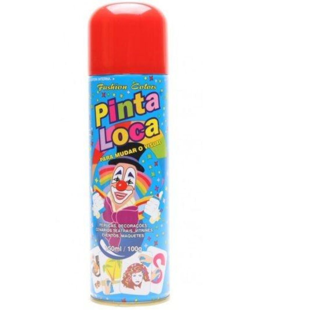 Pinta Loca Tinta Spray Vermelho 150mL