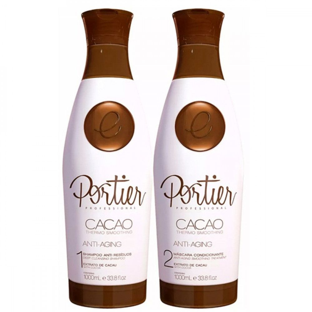 Portier Kit Progressiva Shampoo + Máscara Cacao 1L + 1L