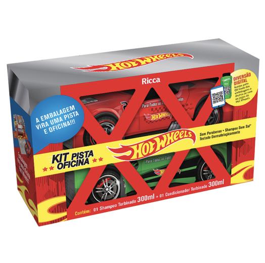 Ricca Shampoo + Condicionador Hot Wheels Pista Oficina 300mL