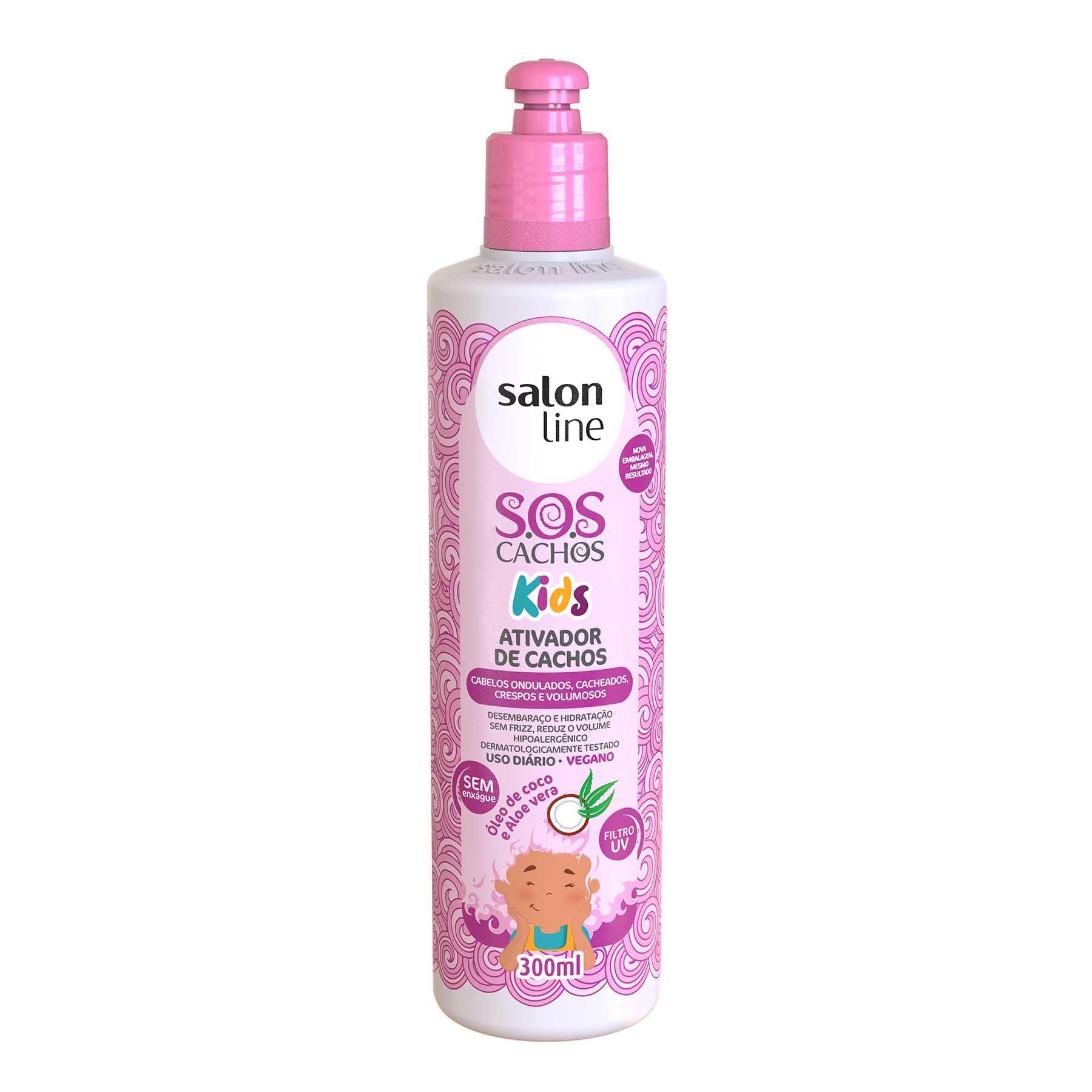 Salon Line Ativador de Cachos S.O.S Cachos Kids 300ml