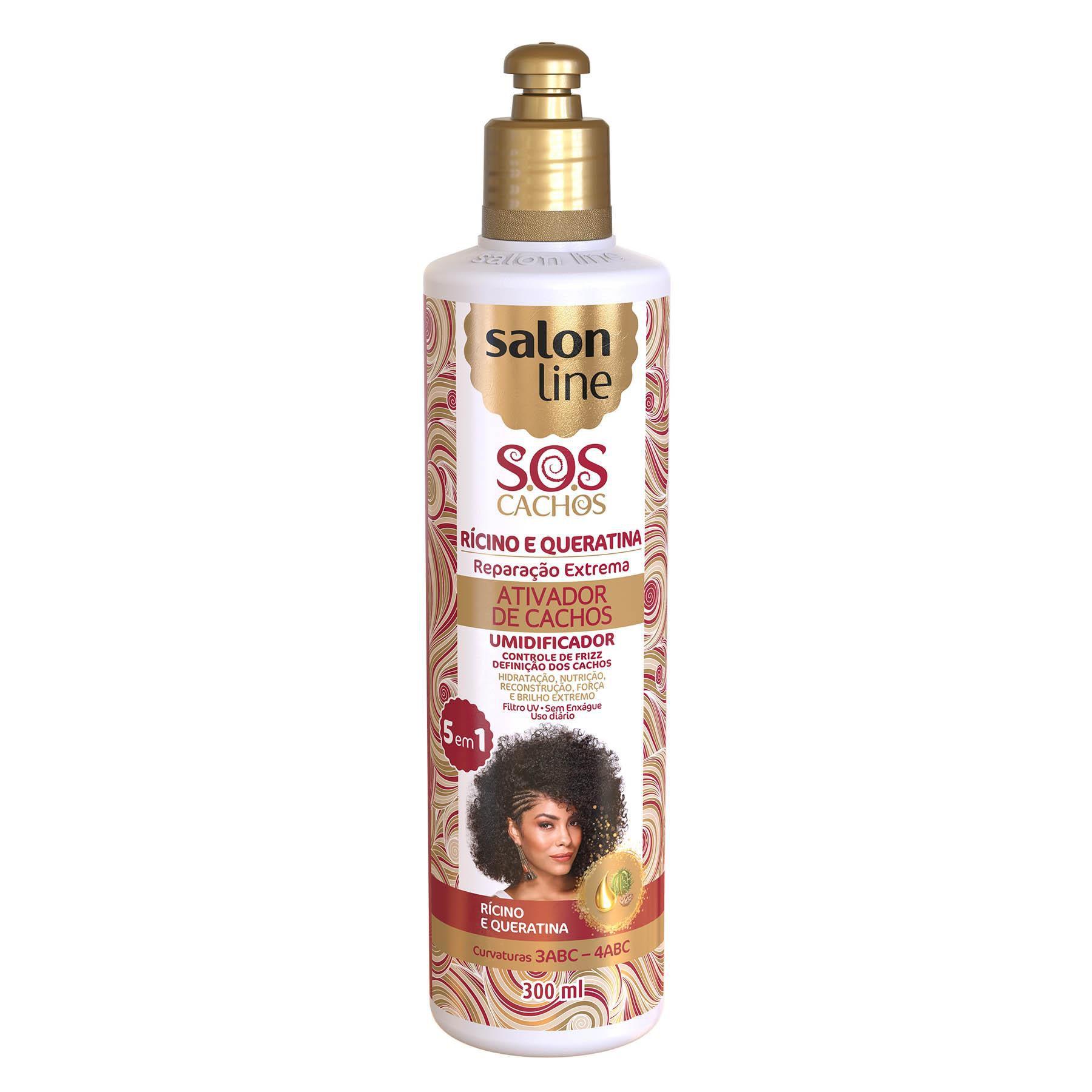 Salon Line Ativador de Cachos S.O.S Cachos Ricínio e Queratina 300ml