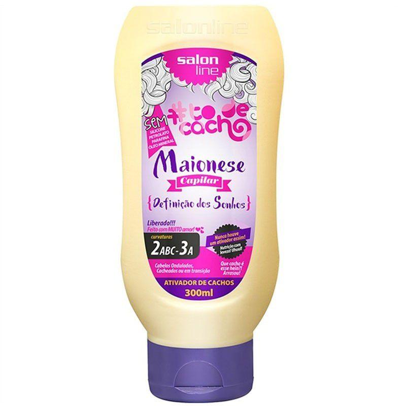 Salon Line Ativador de Cachos #TodeCacho Maionese Capilar Definição dos Sonhos 300ml