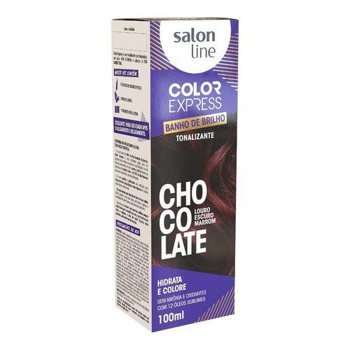 Salon Line Banho de Brilho Color Express Chocolate Louro Escuro Marrom 100mL