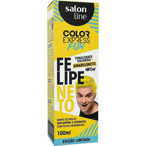 Salon Line Banho de Brilho Color Express Fun Amareloneto Neon 100mL
