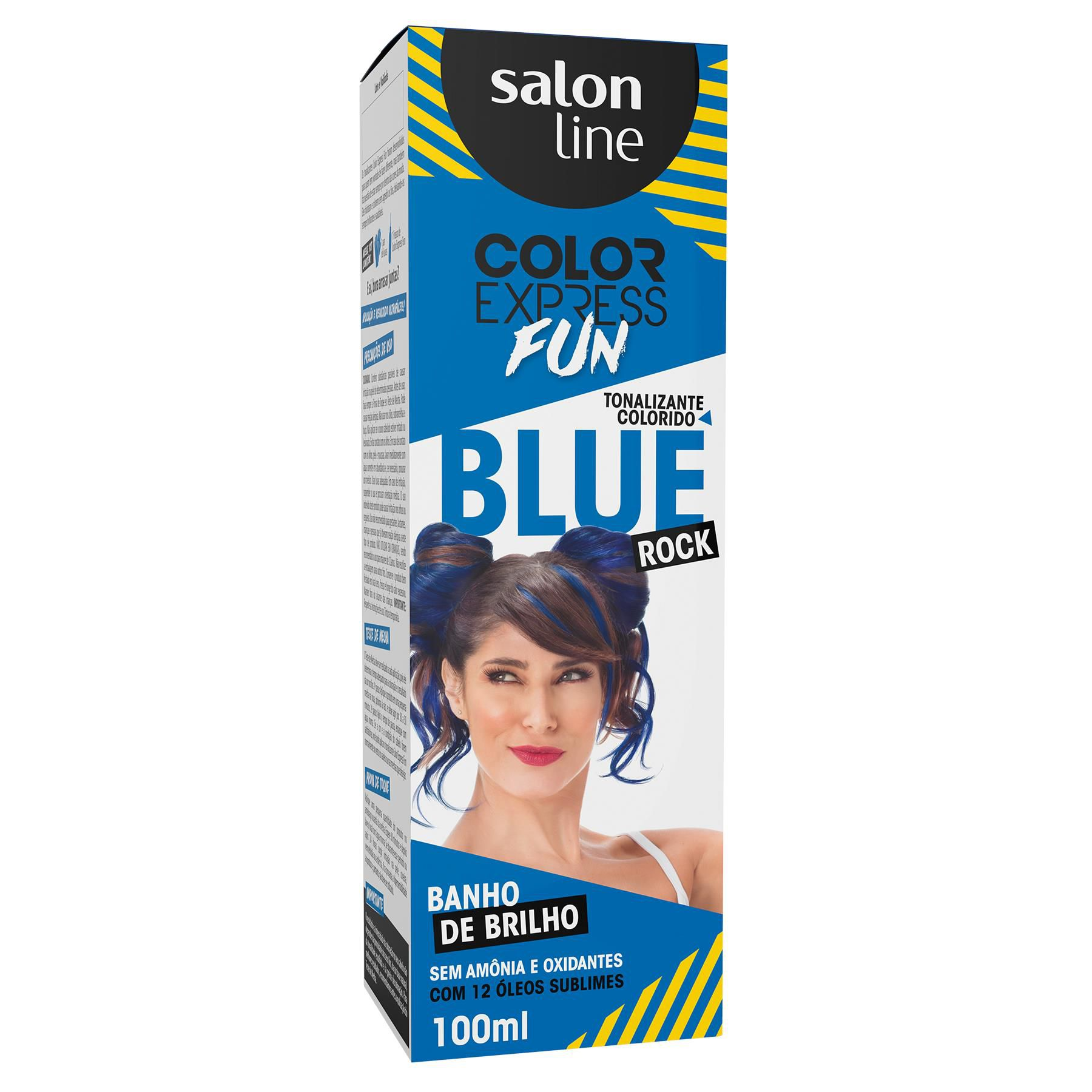 Salon Line Banho de Brilho Color Express Fun Blue Rock 100mL