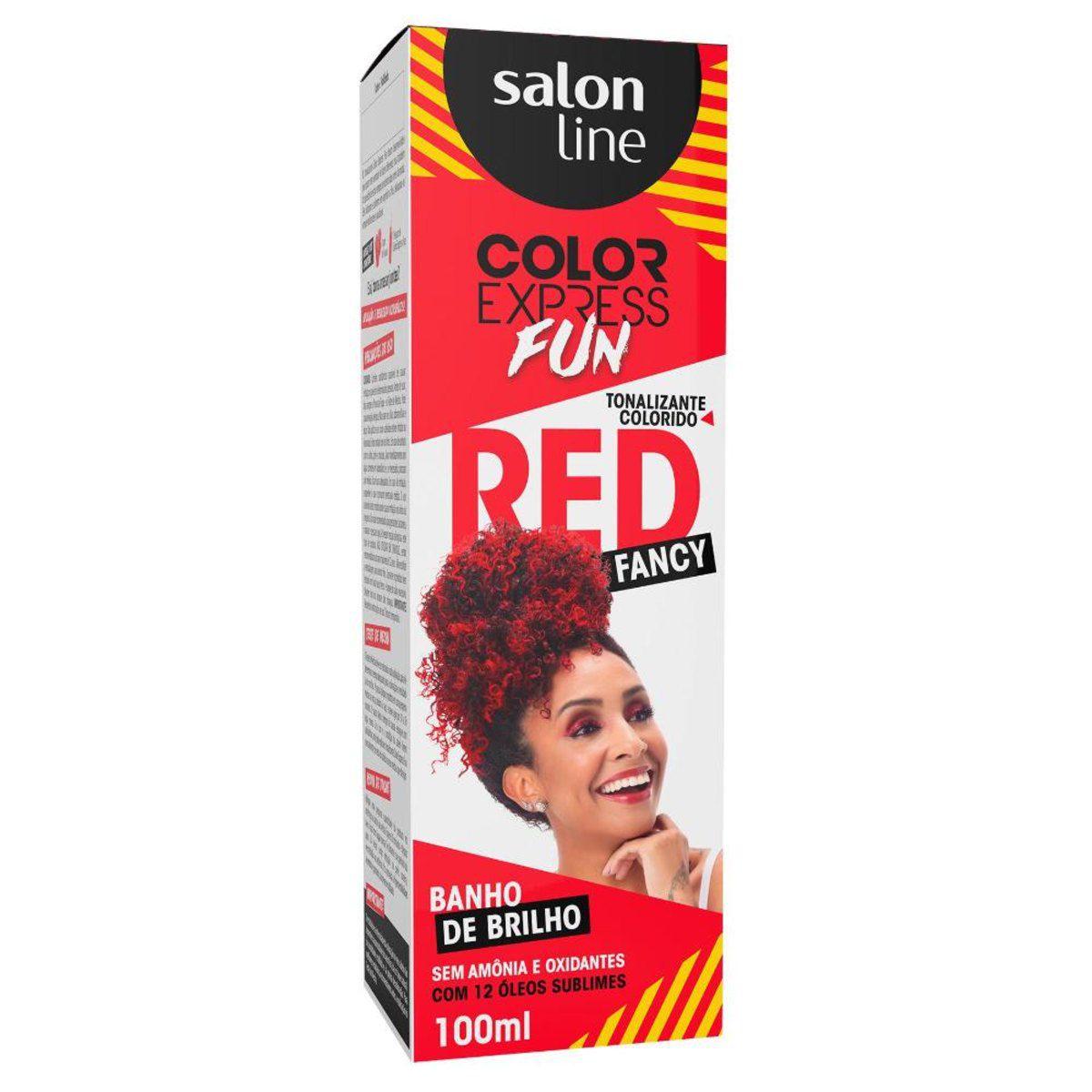 Salon Line Banho de Brilho Color Express Fun Fancy Red 100mL