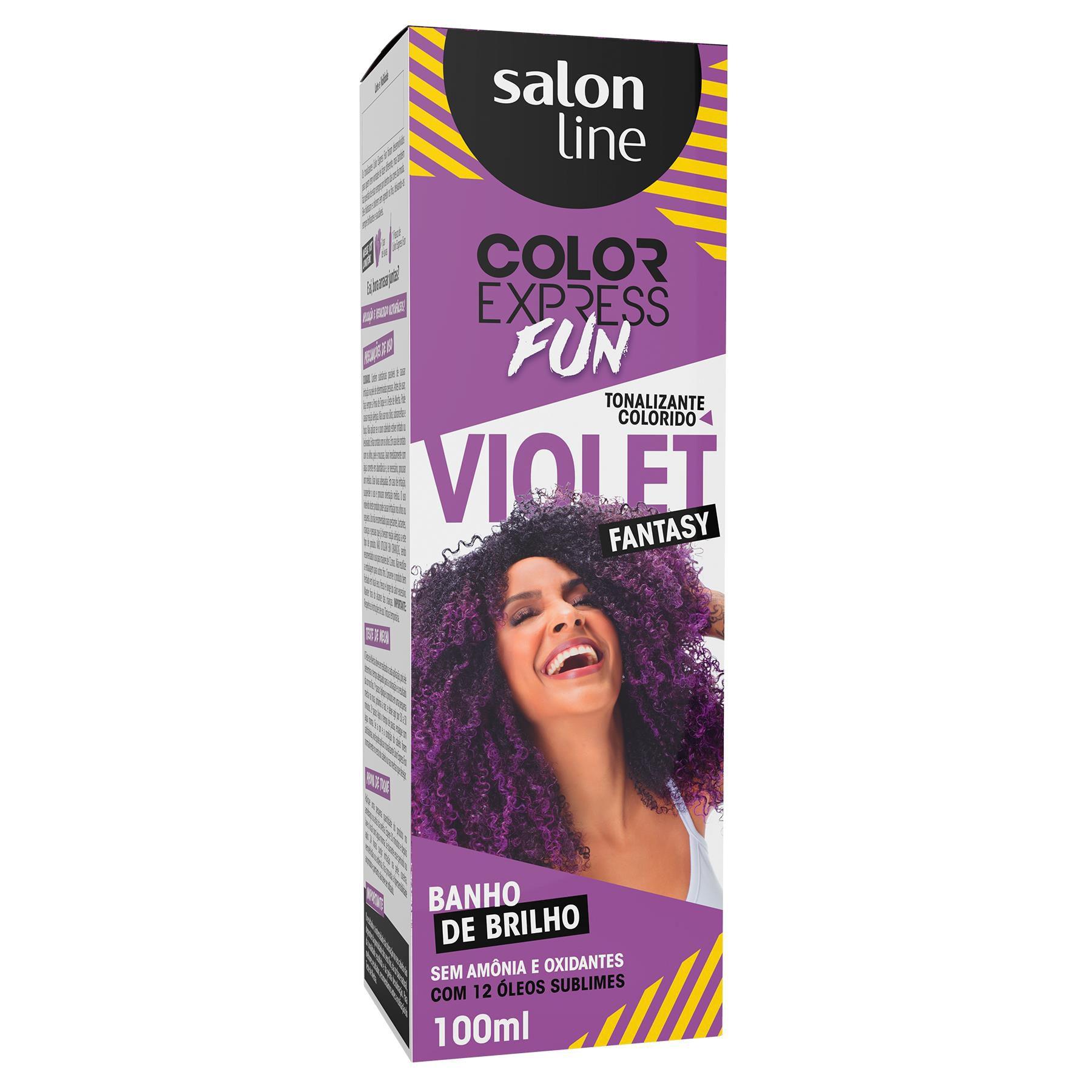 Salon Line Banho de Brilho Color Express Fun Violet Fantasy 100mL