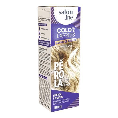 Salon Line Banho de Brilho Color Express Pérola Louro Claro Irisado 100mL