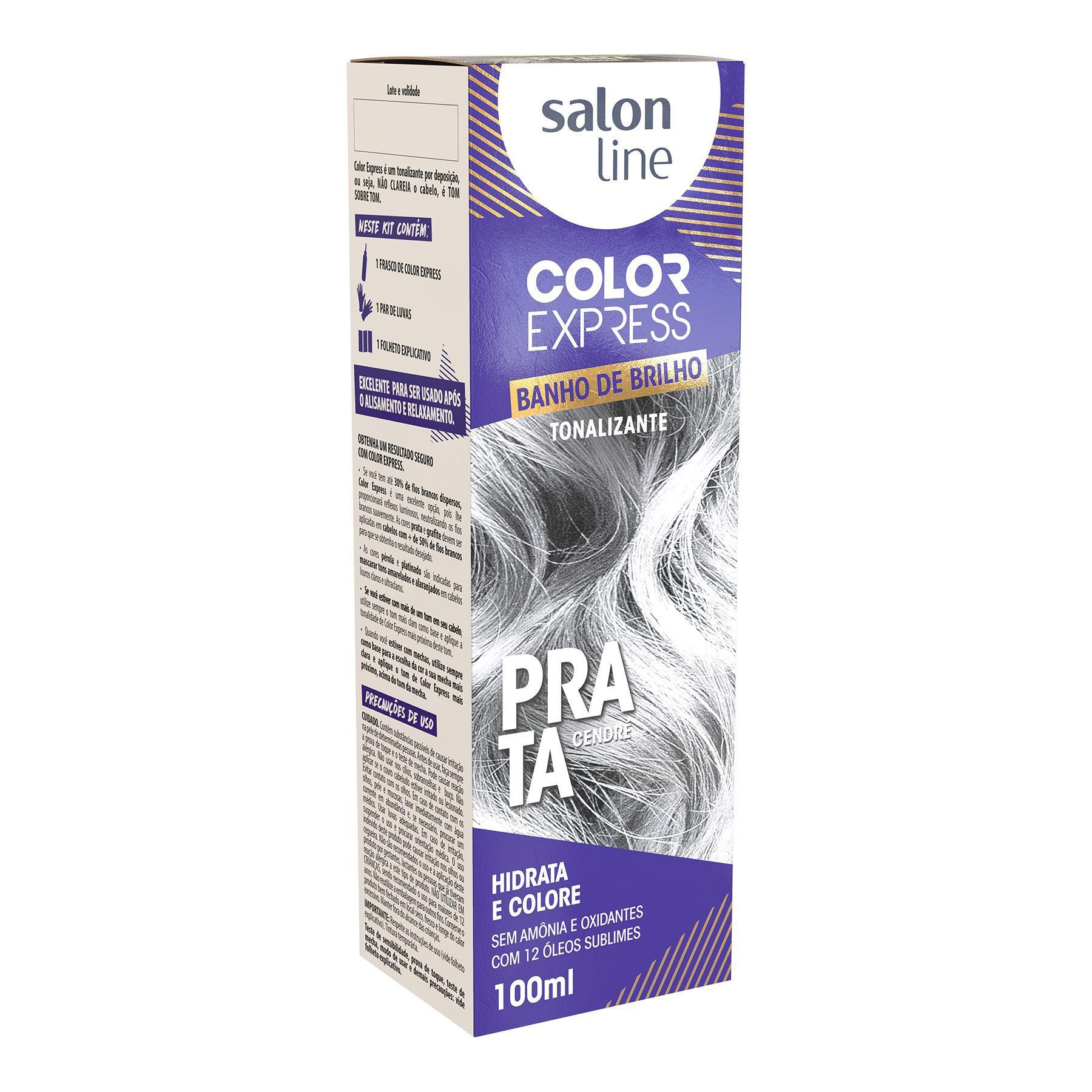 Salon Line Banho de Brilho Color Express Prata Cendré 100mL