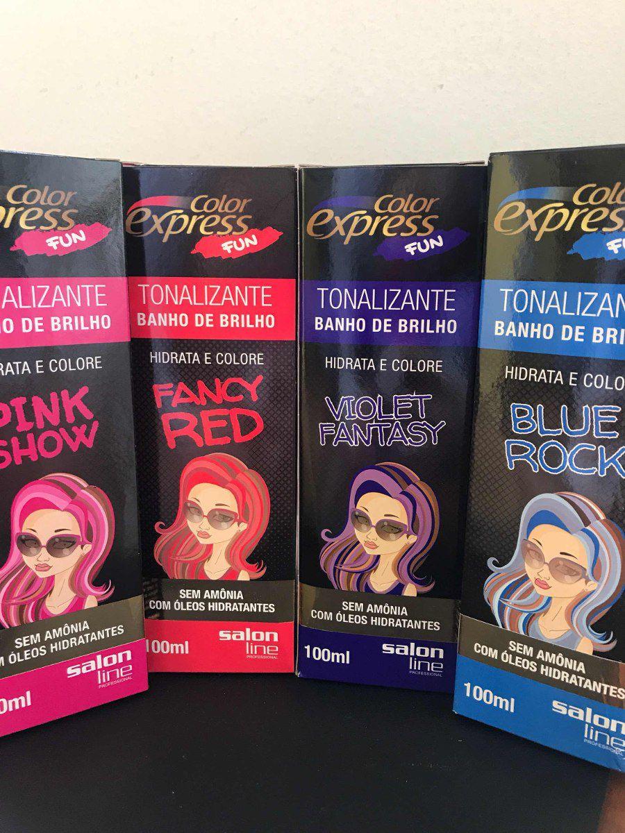 Salon Line Banho de Brilho Color Express Vermelho Intenso 100mL