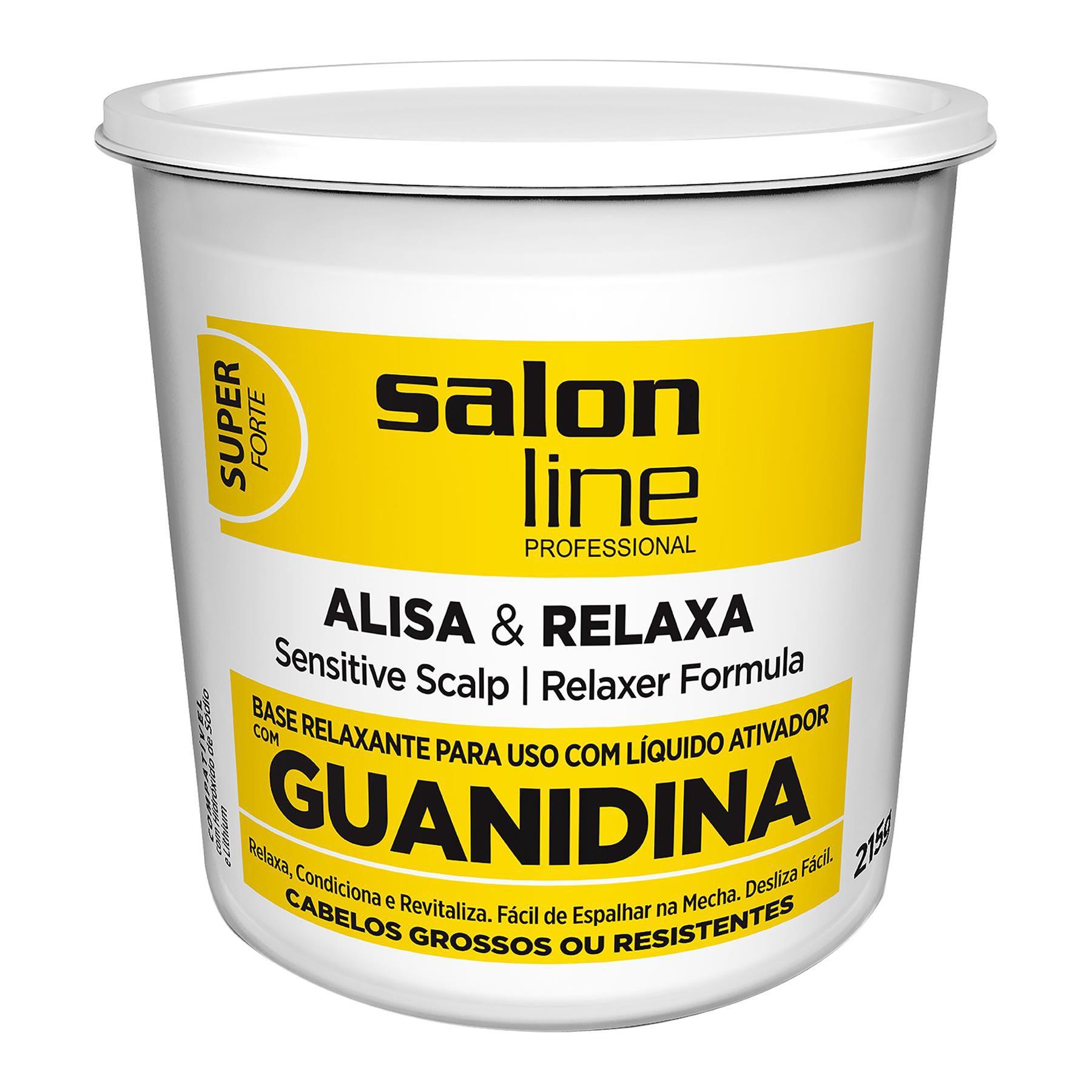 Salon Line Base Relaxante de Guadinina Alisa & Relaxa Super Forte com Óleo de Semente de Manga 215g