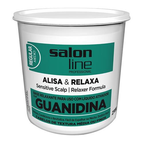 Salon Line Base Relaxante de Guanidina com Óleo de Coco e Queratina Regular 218g