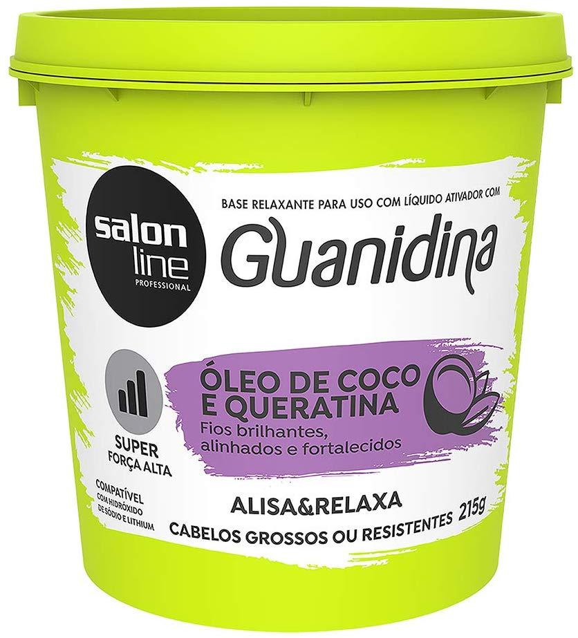 Salon Line Base Relaxante de Guanidina com Óleo de Coco e Queratina Super Forte 218g