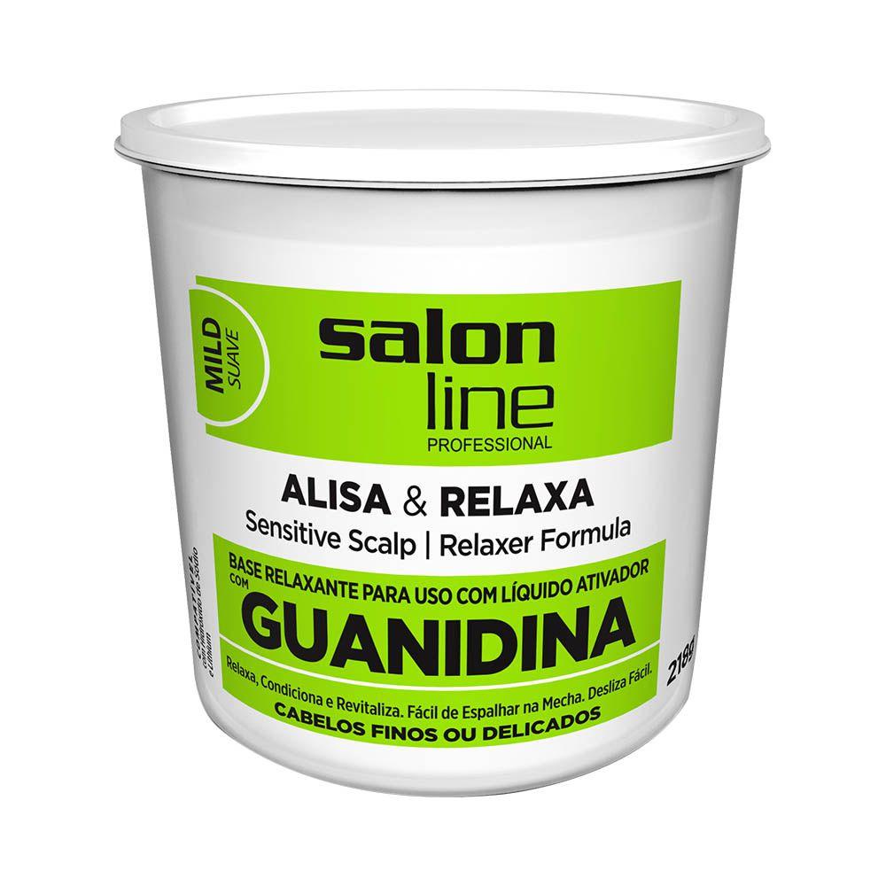 Salon Line Base Relaxante de Guanidina Fortifying para Cabelos Médio e Finos 218g