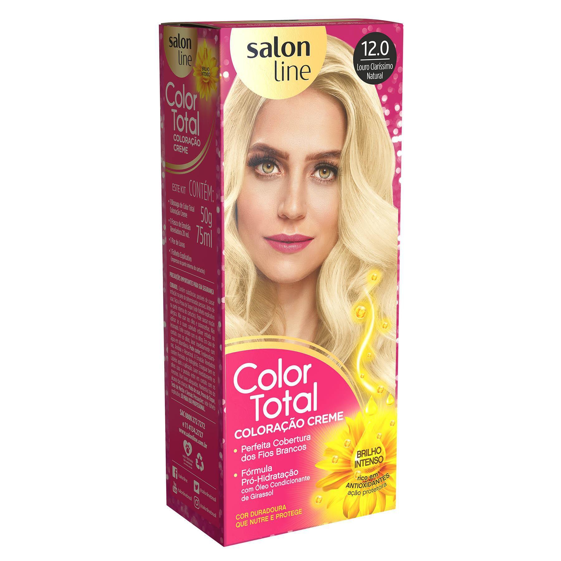 Salon Line Coloração Color Total 12.0 Louro Clarissimo Natural