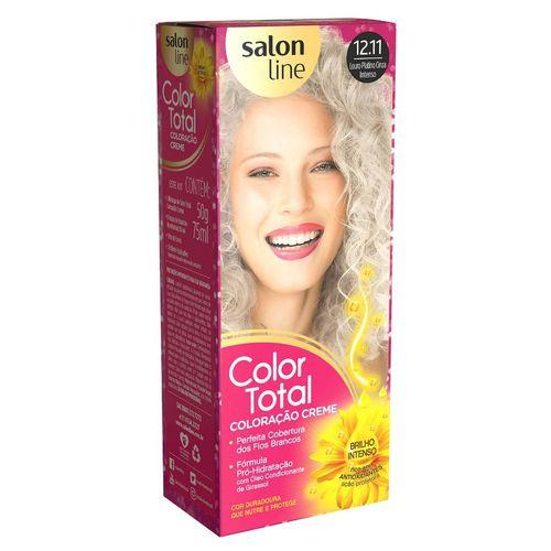 Salon Line Coloração Color Total 12.11 Louro Platinado Cinza Intenso