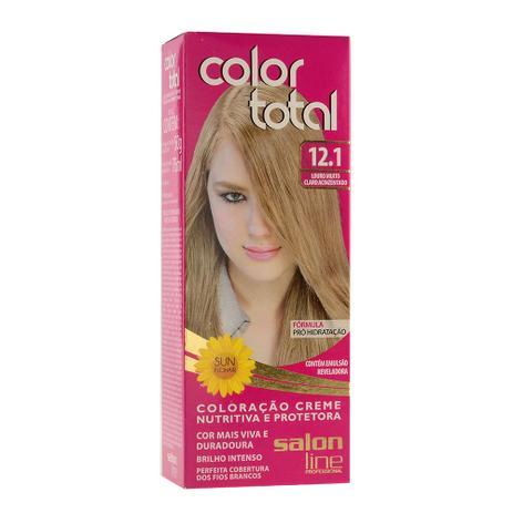 Salon Line Coloração Color Total 12.1 Louro Muito Claro Acinzentado