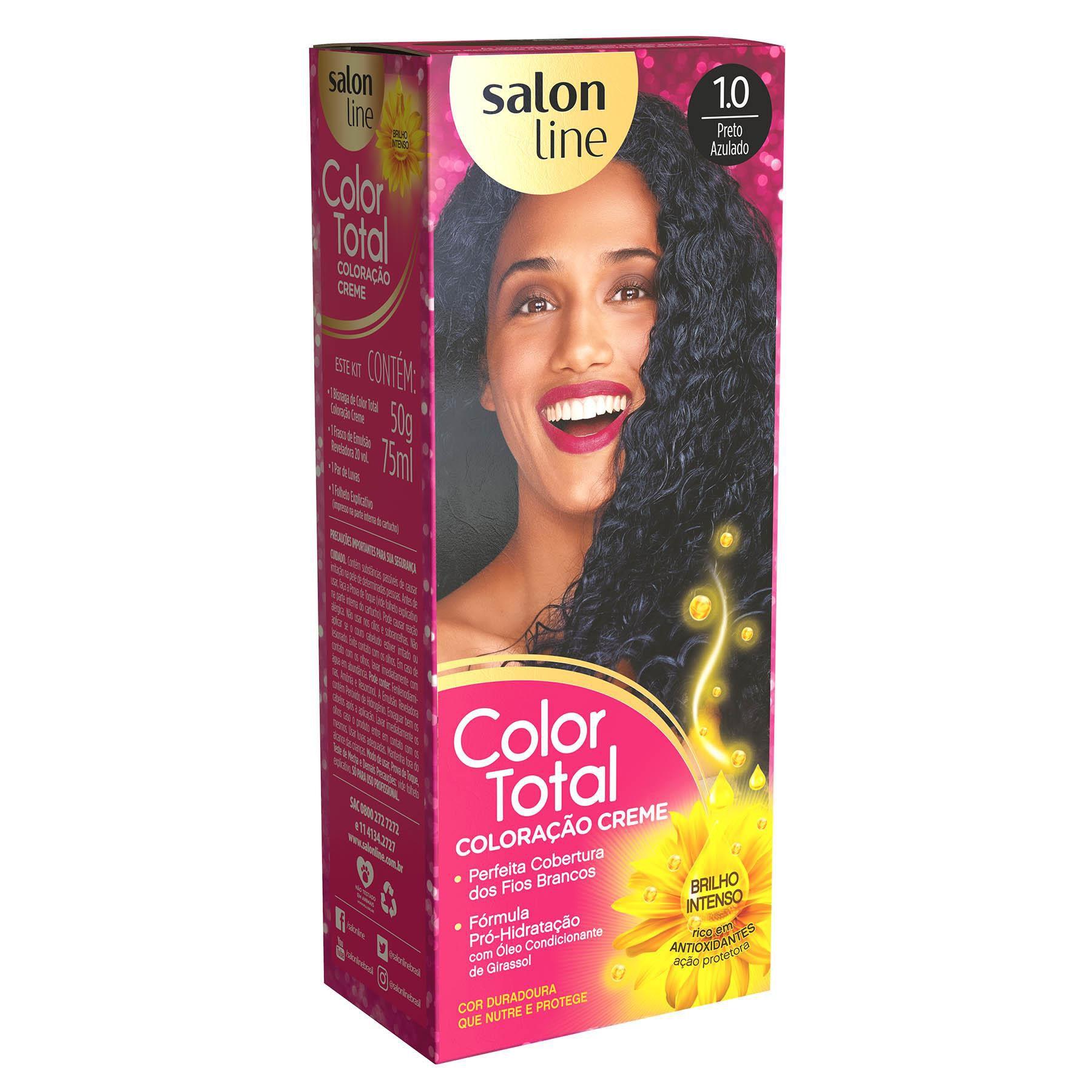 Salon Line Coloração Color Total 1.0 Preto Azulado
