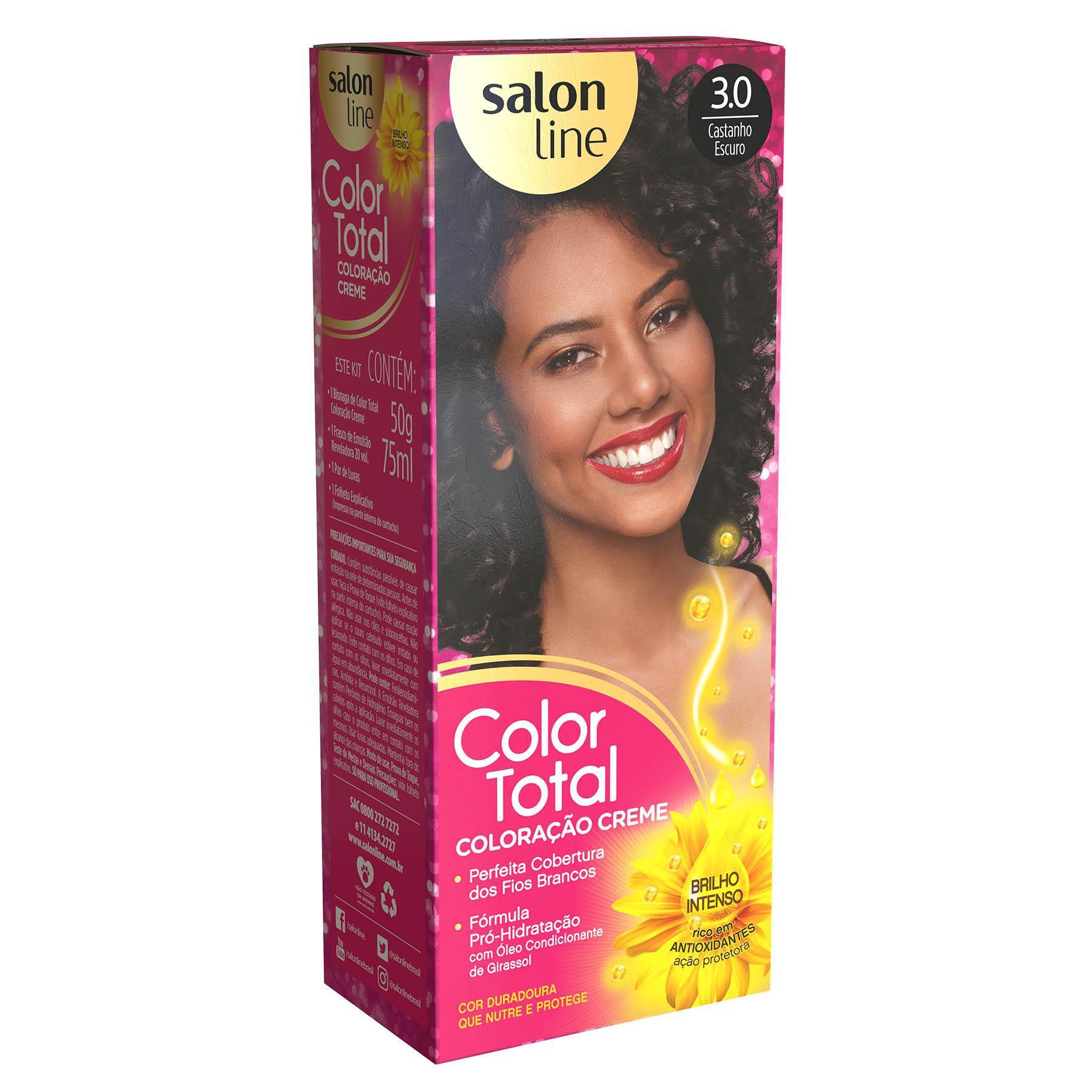 Salon Line Coloração Color Total 3.0 Castanho Escuro