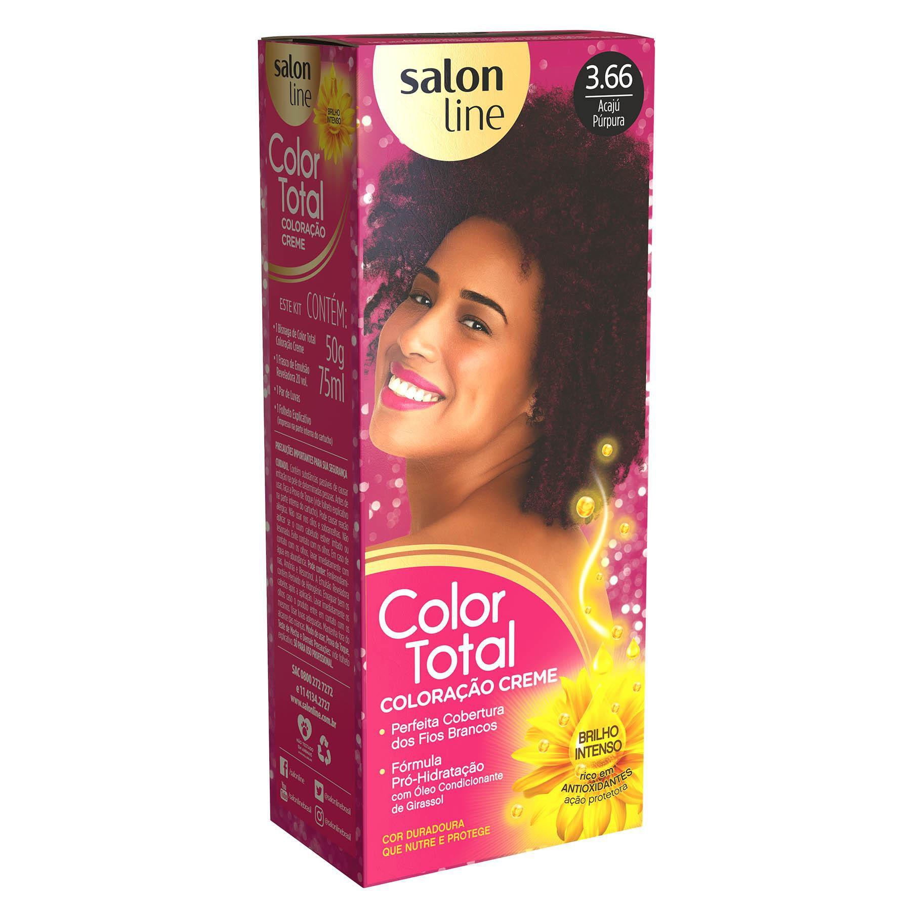 Salon Line Coloração Color Total 3.66 Acaju Purpura