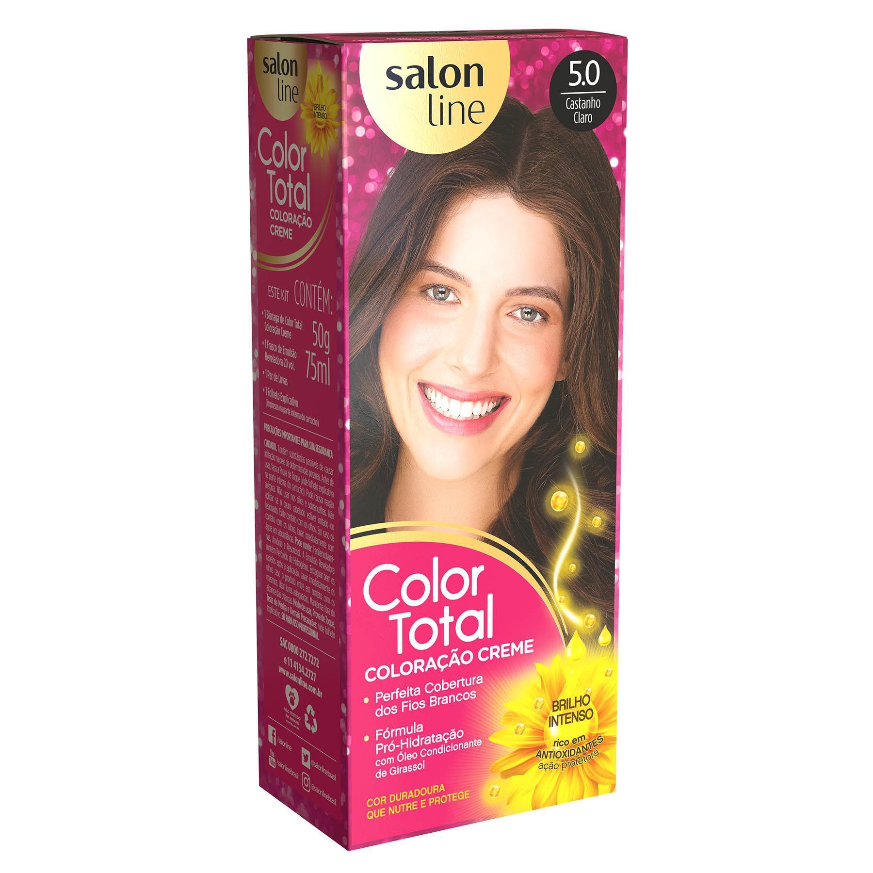 Salon Line Coloração Color Total 5.0 Castanho Claro