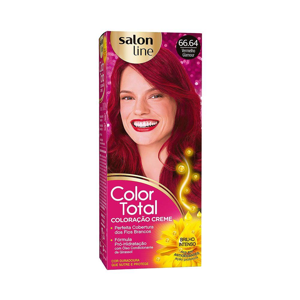 Salon Line Coloração Color Total 66.64 Vermelho Glamour