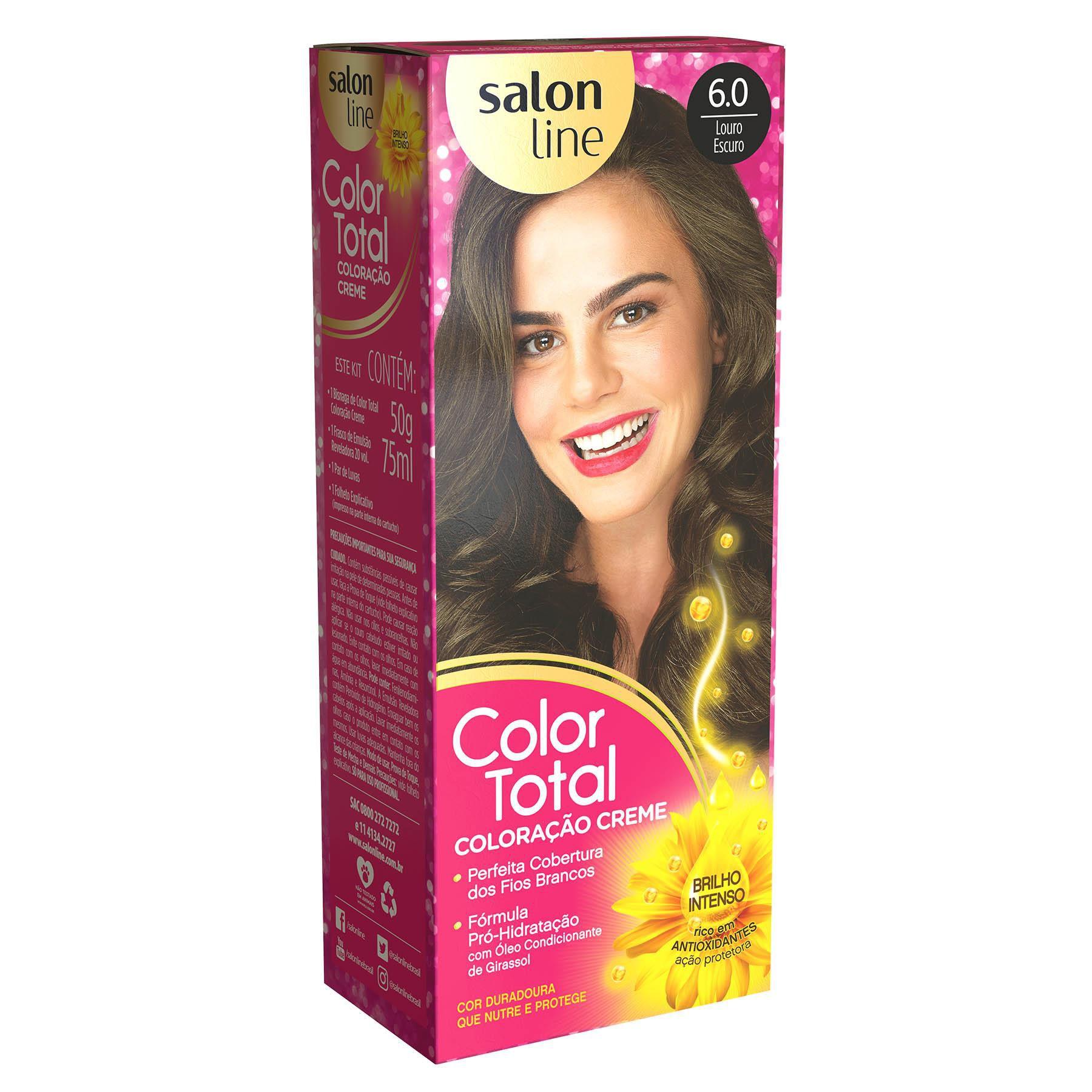 Salon Line Coloração Color Total 6.0 Louro Escuro