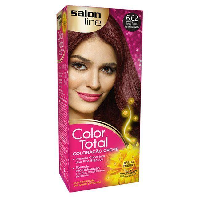 Salon Line Coloração Color Total 6.62 Louro Escuro Vermelho Irisado