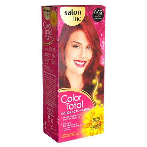 Salon Line Coloração Color Total 6.66 Louro Escuro Vermelho Intenso
