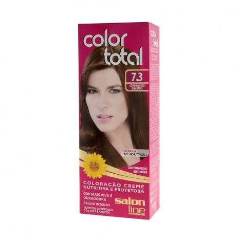 Salon Line Coloração Color Total 7.3 Louro Médio Dourado