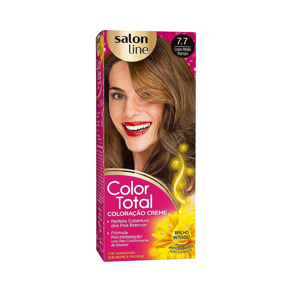 Salon Line Coloração Color Total 7.7 Louro Médio Marrom