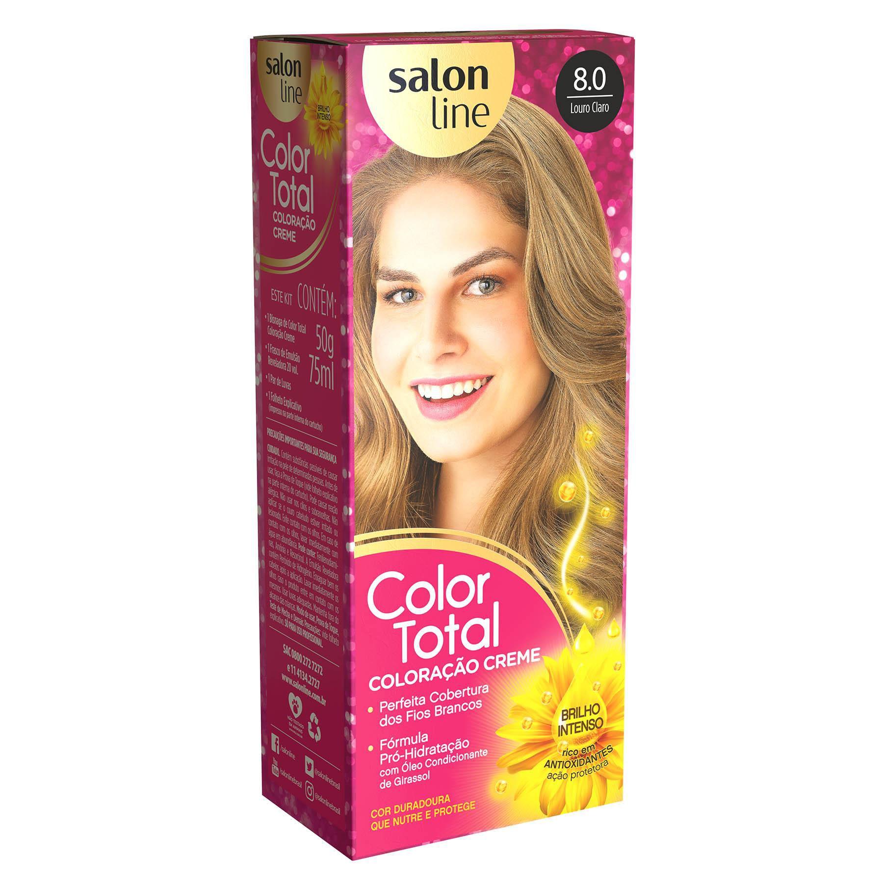 Salon Line Coloração Color Total 8.0 Louro Claro
