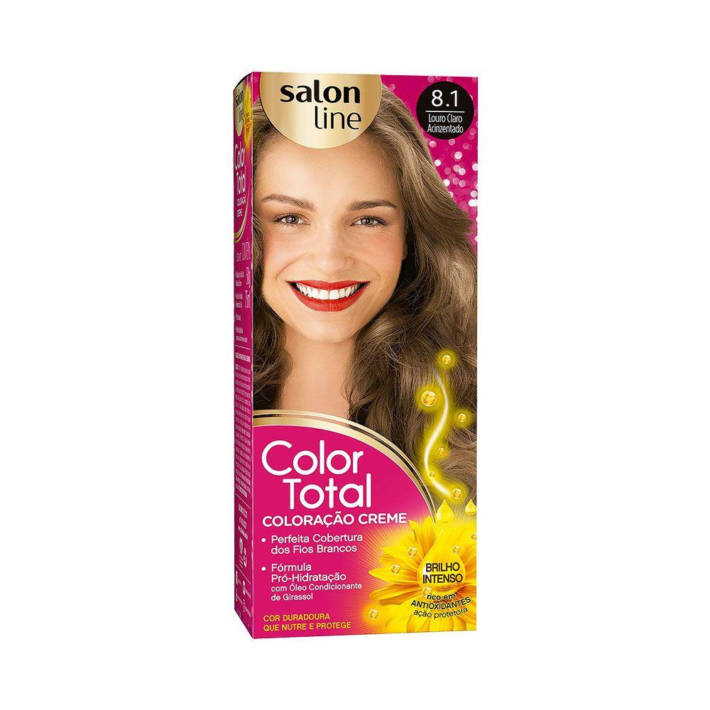 Salon Line Coloração Color Total 8.1 Louro Claro Acinzentado