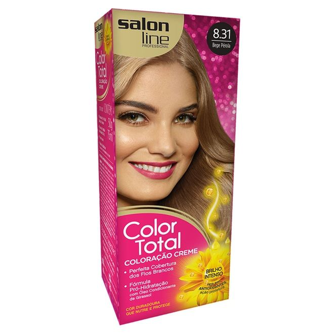 Salon Line Coloração Color Total 8.31 Bege Perola