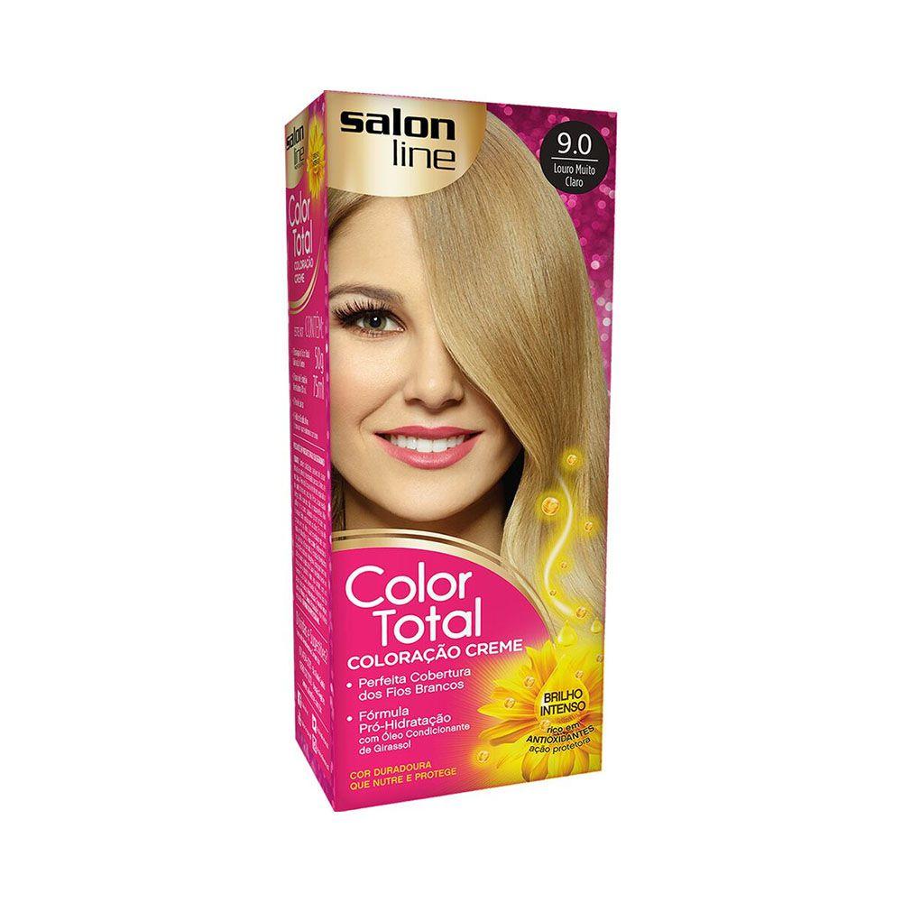 Salon Line Coloração Color Total 9.0 Louro Muito Claro