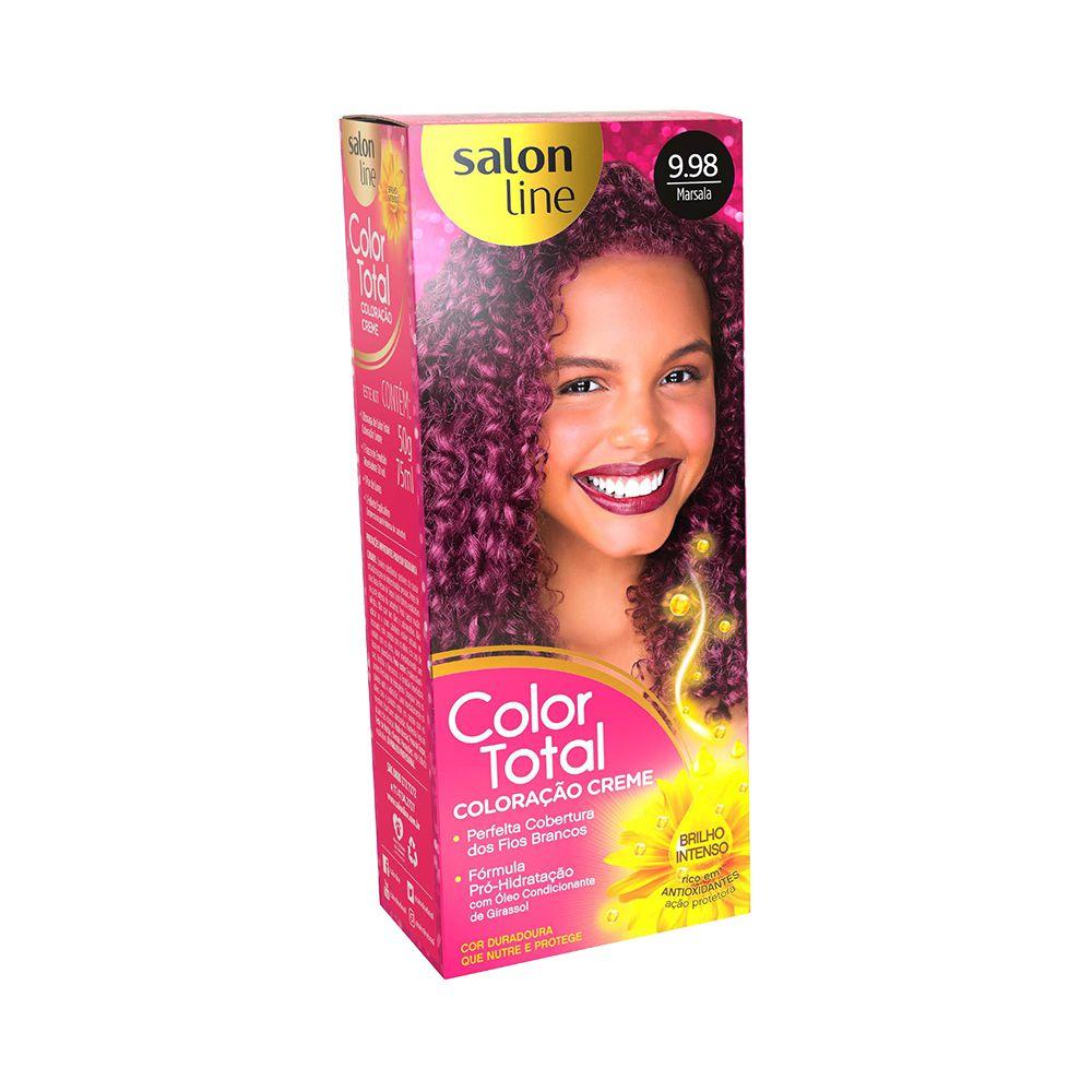 Salon Line Coloração Color Total 9.8 Marsala