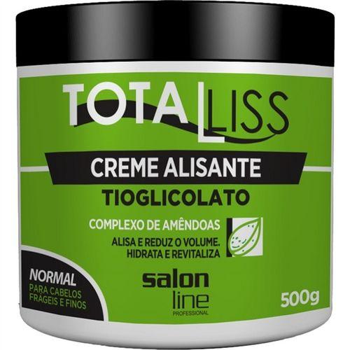 Salon Line Creme Alisante Total Liss Tioglicolato Complexo de Amêndoas 500g