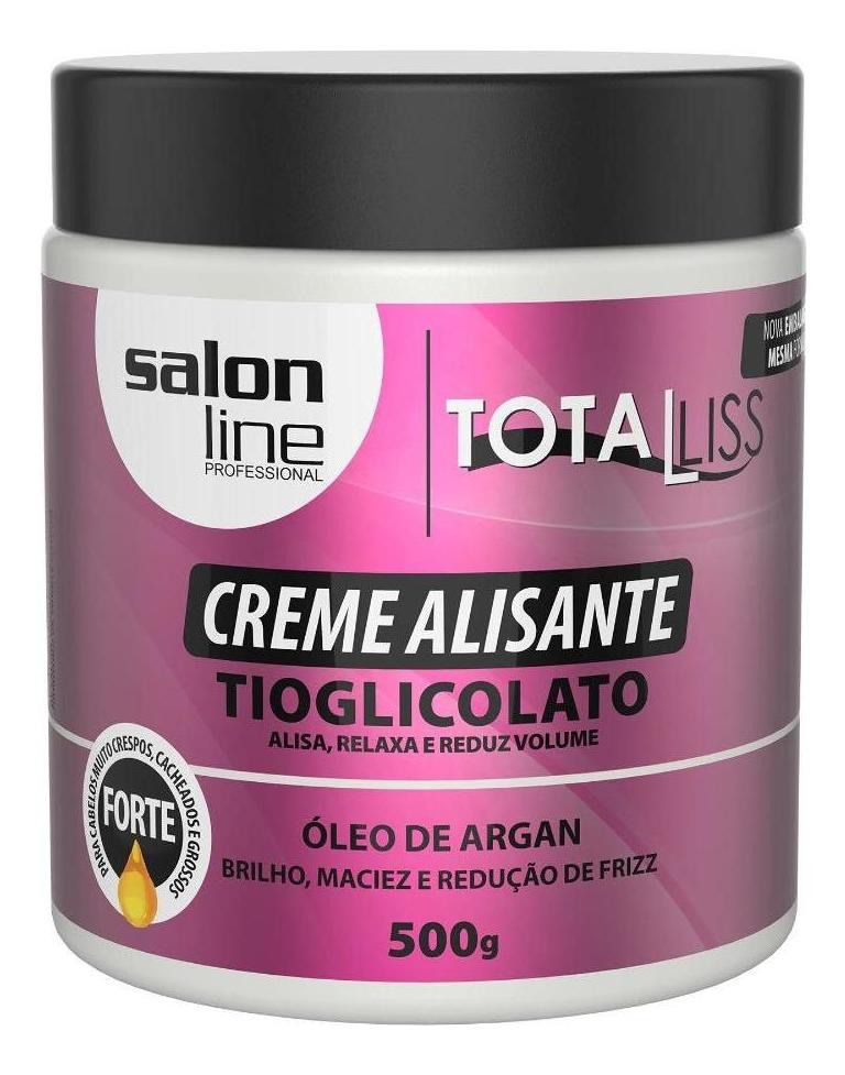 Salon Line Creme Alisante Total Liss Tioglicolato Óleo de Argan Forte 500g
