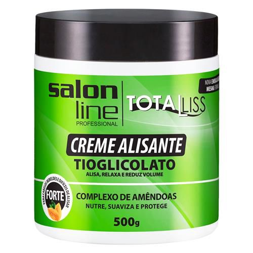 Salon Line Creme Alisante Total Liss Tioglicolato Óleo de Argan Médio 500g