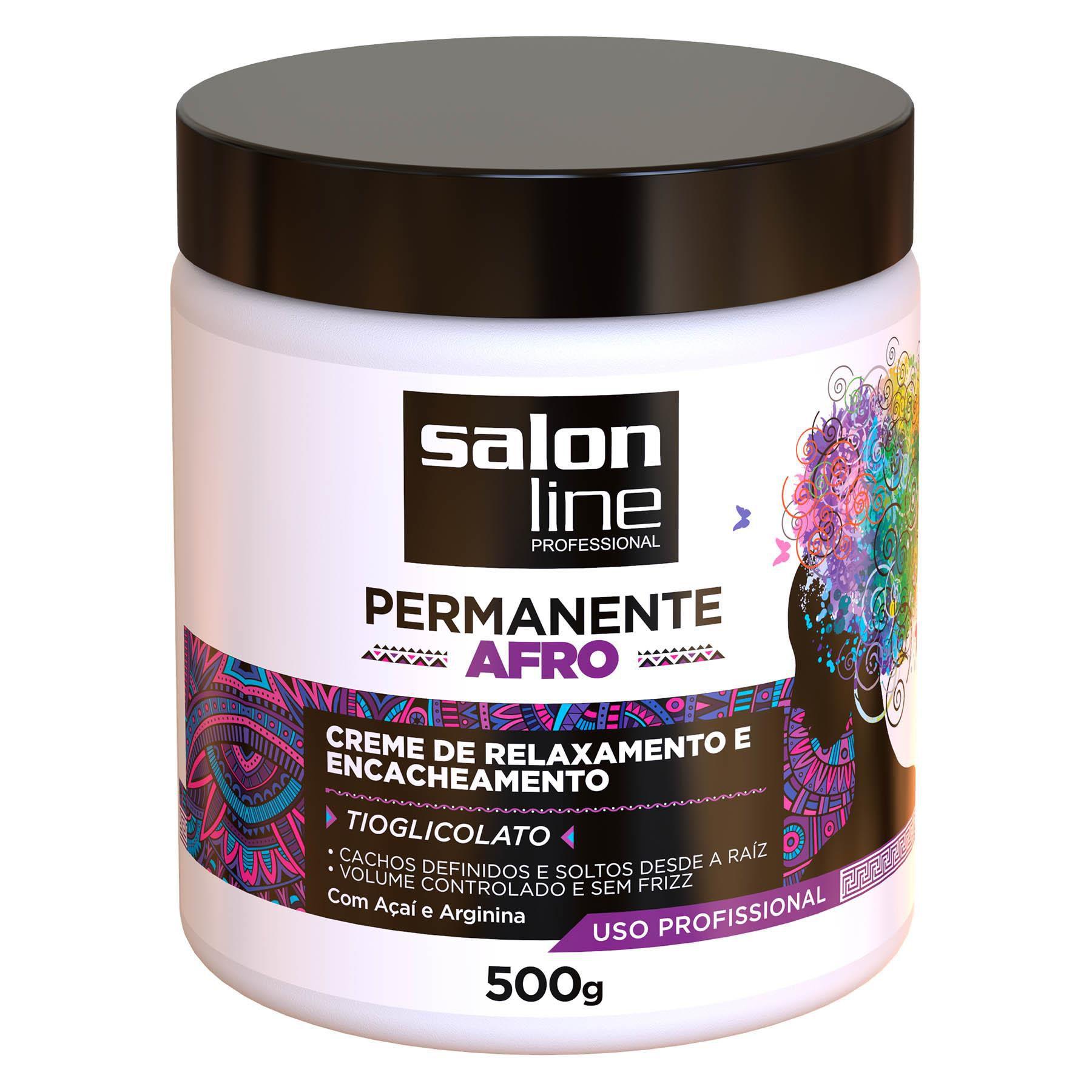 Salon Line Creme de Relaxamento e Encacheamento Permanente Afro Tioglicolato 500g