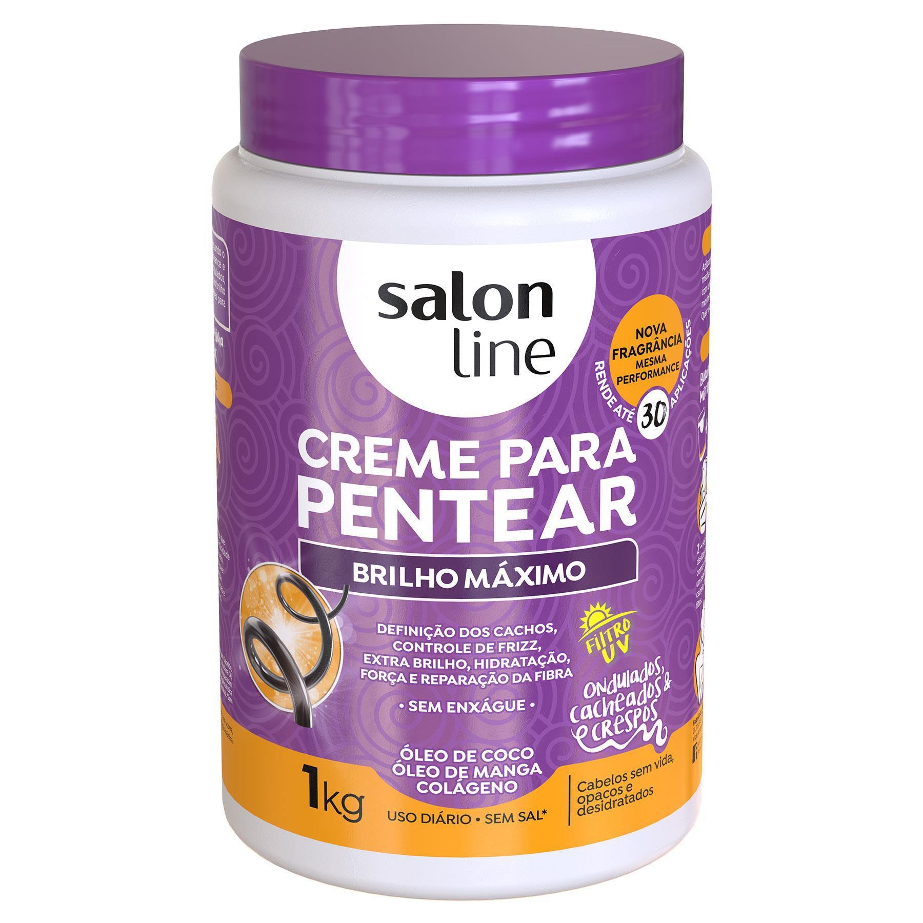 Salon Line Creme para Pentear Brilho Maximo 1Kg
