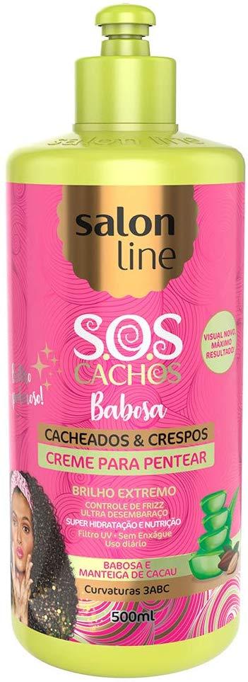 Salon Line Creme para Pentear S.O.S Cachos Babosa Definição Cacheados e Crespos  500ml