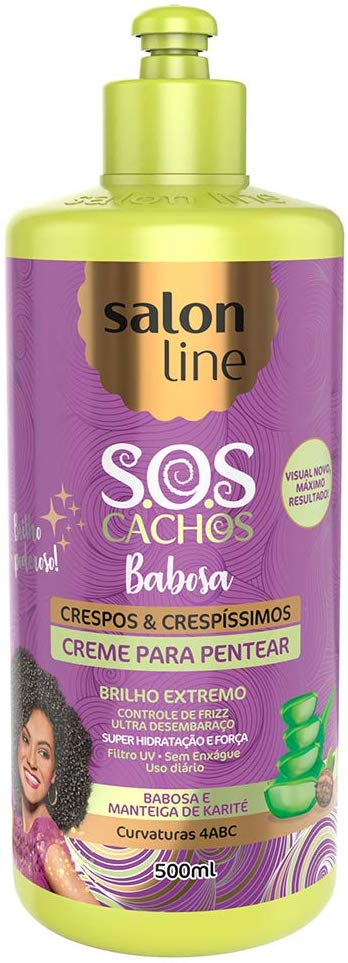 Salon Line Creme para Pentear S.O.S Cachos Babosa Definição Crespos e Crespíssimos  500ml