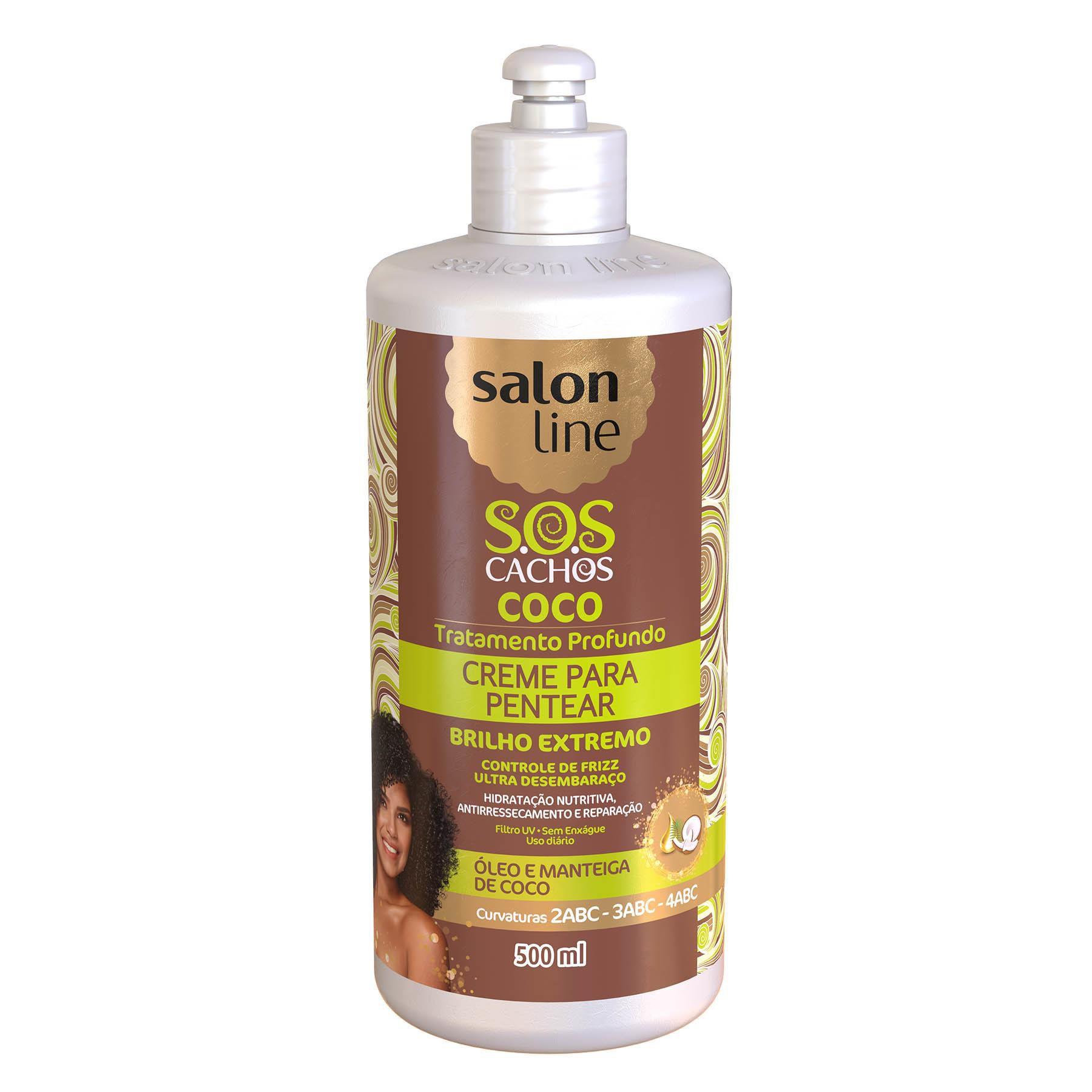 Salon Line Creme para Pentear S.O.S Cachos Coco Tratamento Profundo  500ml