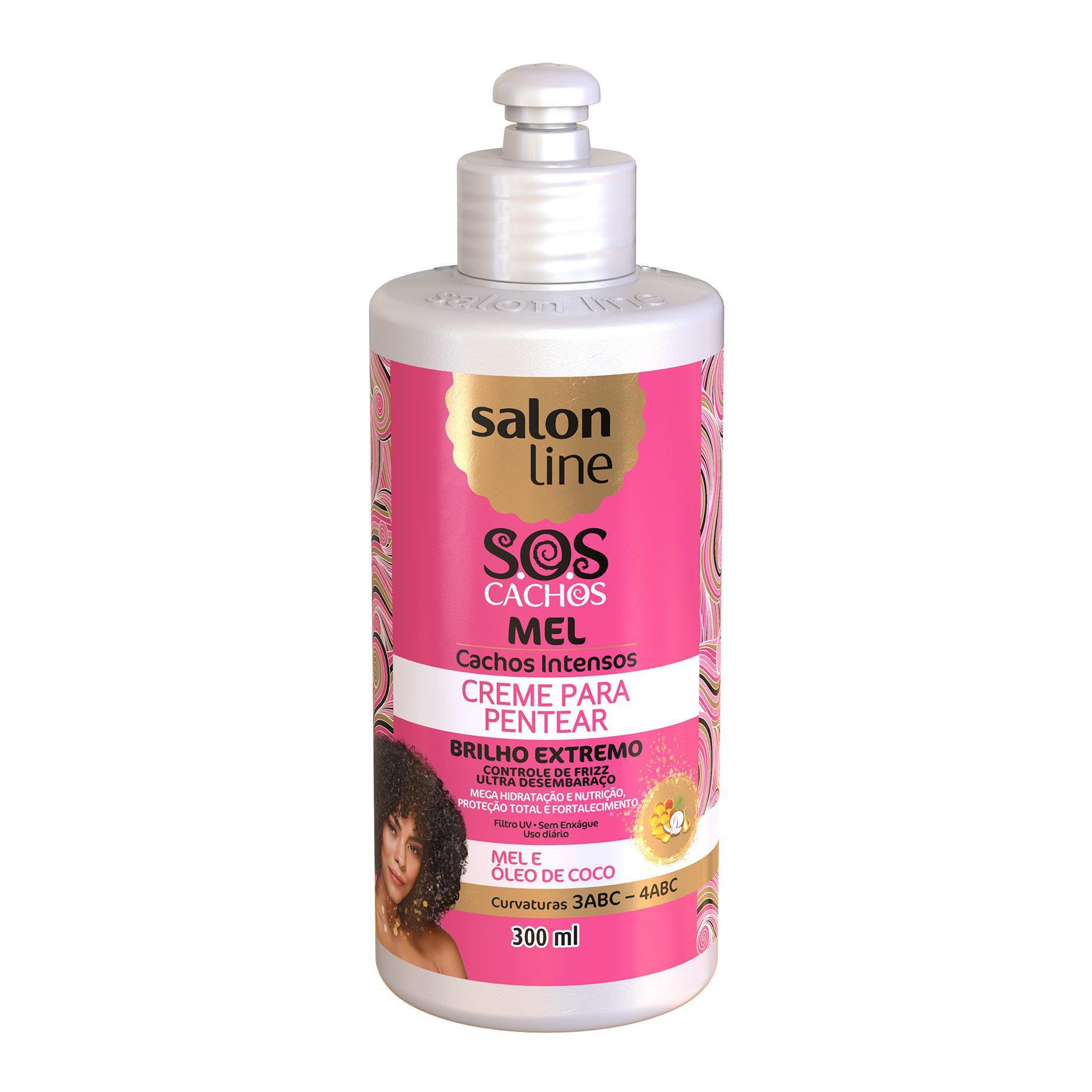 Salon Line Creme para Pentear S.O.S Cachos Mel Cachos Intensos Creme de Pentear 300ml