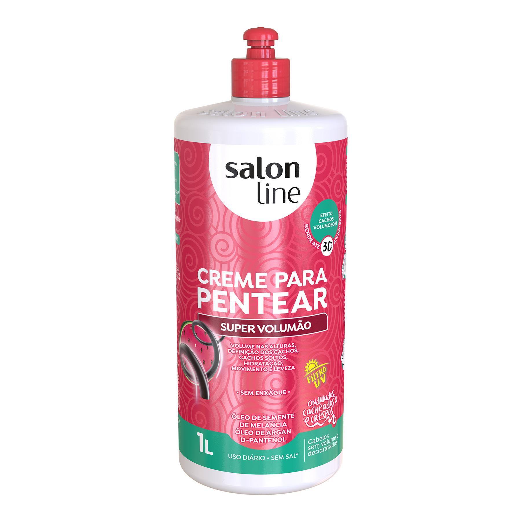 Salon Line Creme para Pentear Super Volumão 1L