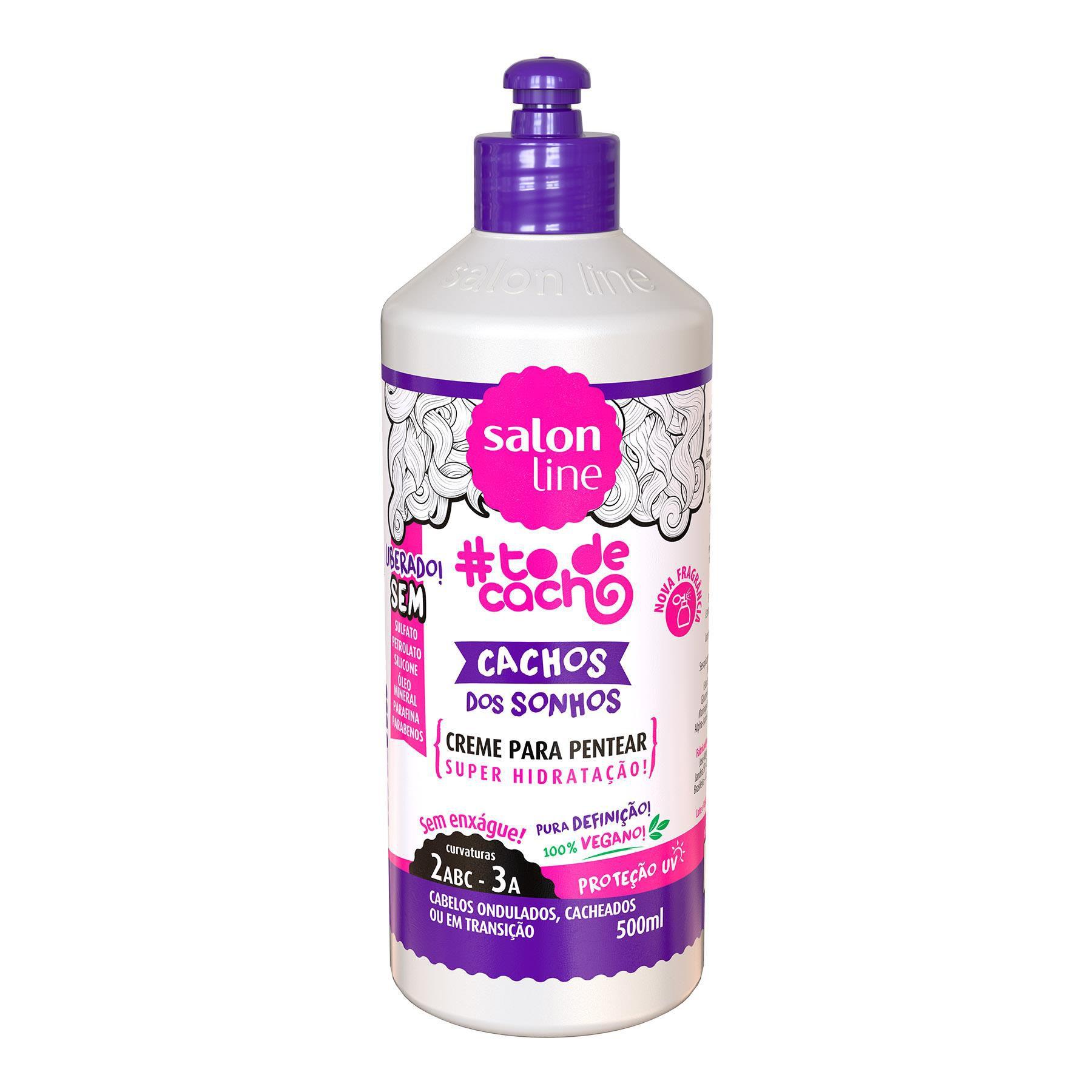 Salon Line Creme para Pentear #TodeCacho Cachos dos Sonhos 500ml